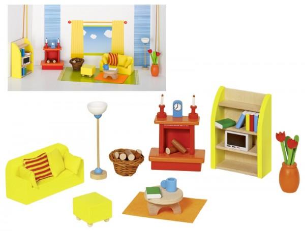 Puppenhausmöbel für das Wohnzimmer