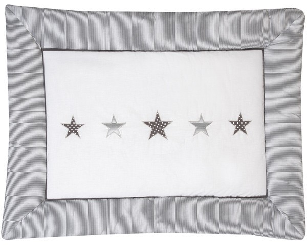 Krabbeldecke Stern 100 x 135 cm (Weiß-Grau)