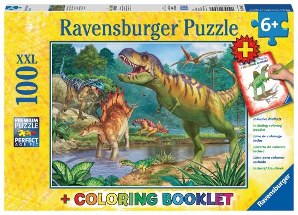 Kinderpuzzle und Malbuch Welt der Dinosaurier ab 6 Jahren