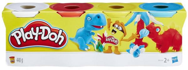 Play-Doh 4er Töpfchen Grundfarben