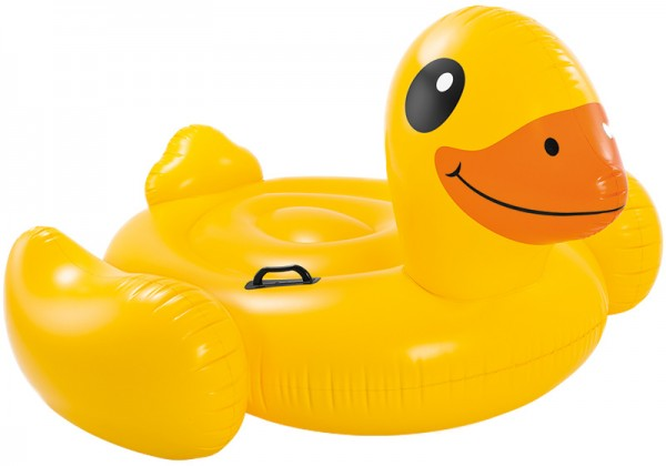 Reittier Ente Yellow Duck 147 x 147 x 81 cm (Gelb)