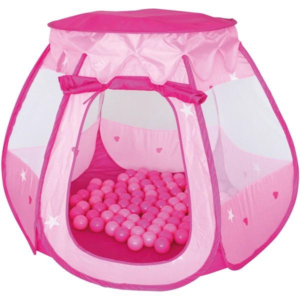 Spielzelt Bällebad Bella mit 100 Bällen (Rosa-Pink)