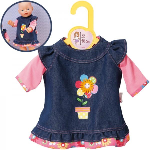 Dolly Moda Jeanskleid 38-46 cm (Blau-Pink)