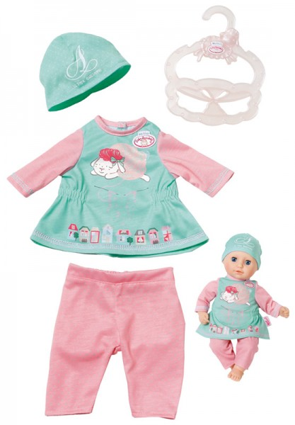 My First Baby Annabell Baby Outfit 30 - 36 cm (Mint-Rosa)