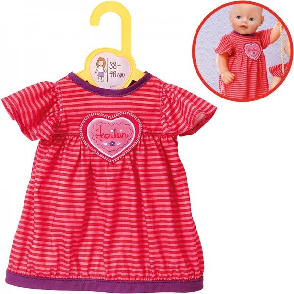 Dolly Moda Schlafkleid 38 - 46 cm (Pink-Rot)
