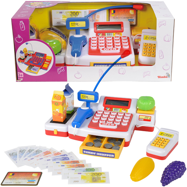Children's Kinderspielzeug Kasse mit Scanner Supermarkt