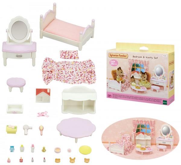 Sylvanian Families Mädchenzimmer Bett und Schminktisch