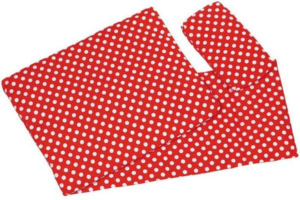 3-teiliges Puppenbettzeug Pünktchen (Rot)