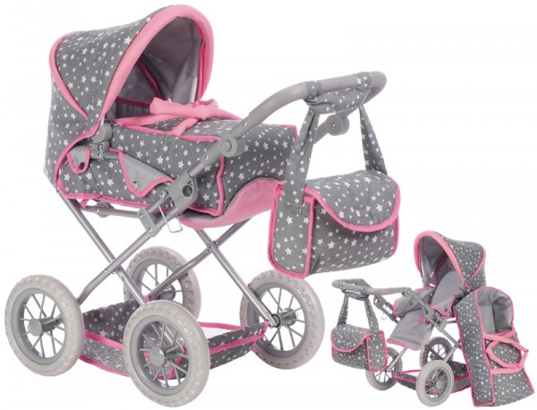 Puppenwagen Ruby (Star Grey)
