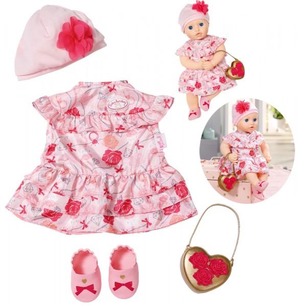 Baby Annabell Deluxe Set Blumen 43 cm (Rosa-Rot)