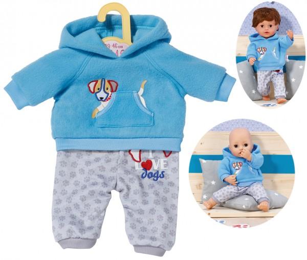 Dolly Moda Sport-Outfit Boy 43 cm (Blau-Grau)