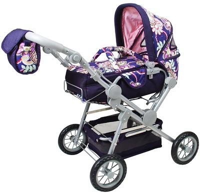 Puppenwagen Twingo Flowers (Blau)