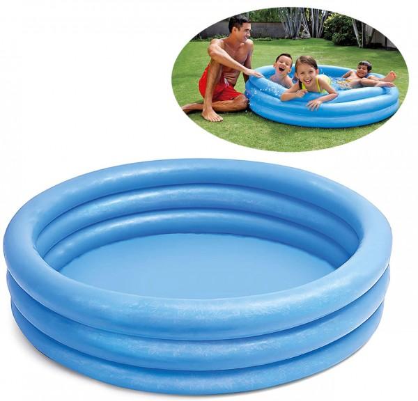 3-Ring Planschbecken 147 cm (Blau)