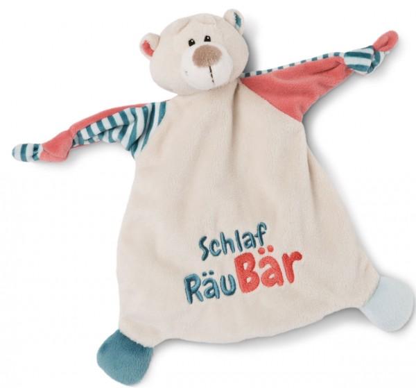 Schmusetuch Bär Schlaf RäuBär (Beige-Blau)
