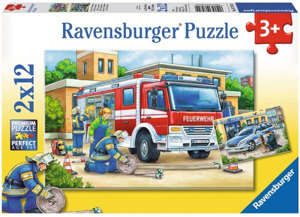 Kinderpuzzle Polizei und Feuerwehr ab 3 Jahren