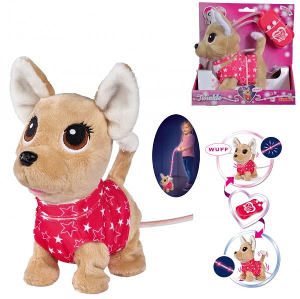 Chi Chi Love Twinkle Chihuahua Plüschhund mit Lichtfunktion