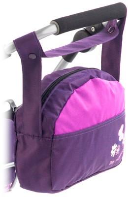 Wickeltasche für Puppenwagen (Pflaume)