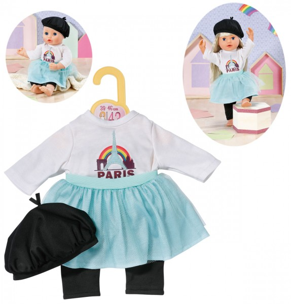 Dolly Moda Puppenkleidung Paris Look 43 cm