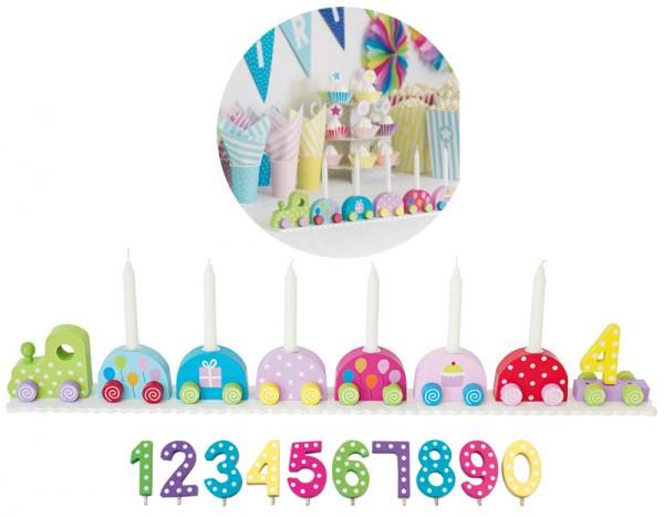 Geburtstagszug mit Zahlen (Bunt)