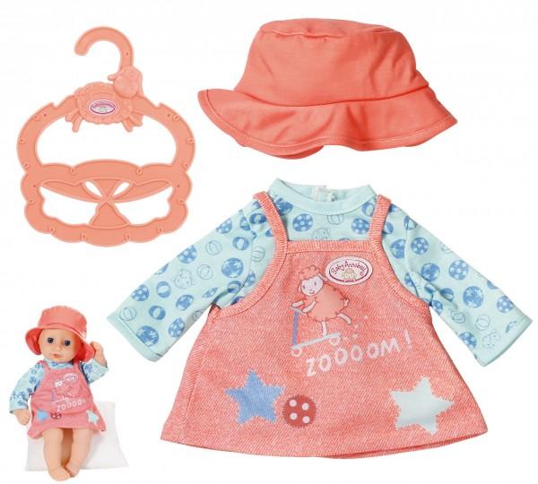 Baby Annabell Little Babyoutfit Kleid mit Shirt 36 cm (Aprikot-Blau)