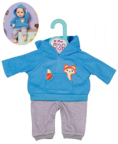 Dolly Moda Sport Outfit Fuchs 34 - 38 cm (Blau-Grau)