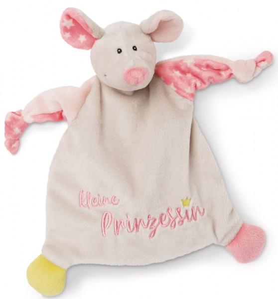 Schmusetuch Maus Kleine Prinzessin (Beige)