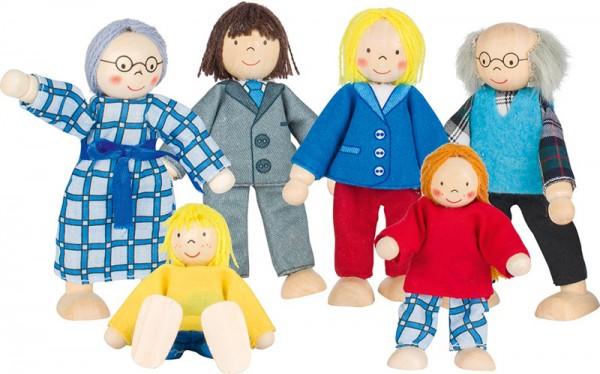 Puppenhaus-Puppen City-Familie