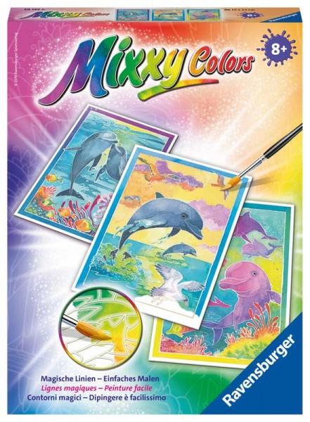 Malen nach Zahlen Mixxy Colors Delfine