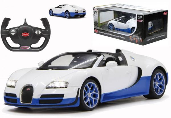 RC Bugatti Grand Sport Vitesse 1:14 2,4 GHz (Weiß-Blau)