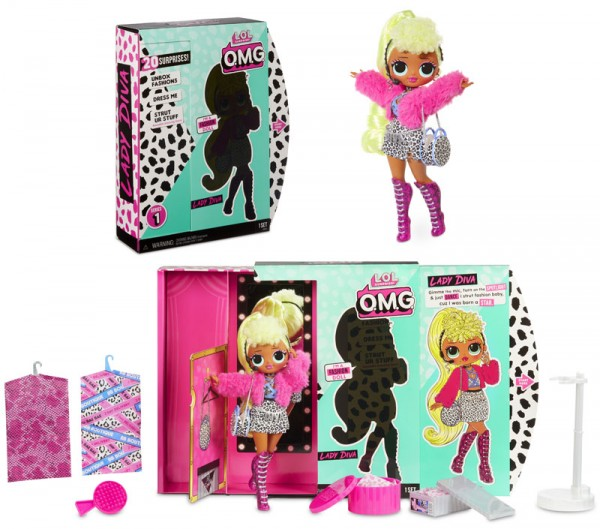 L.O.L. Suprise Top Secret Serie 1 Fashionpuppe Lady Diva (Pink)