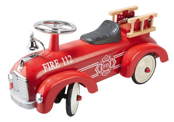 Rutscherauto Feuerwehr aus Metall (Rot)