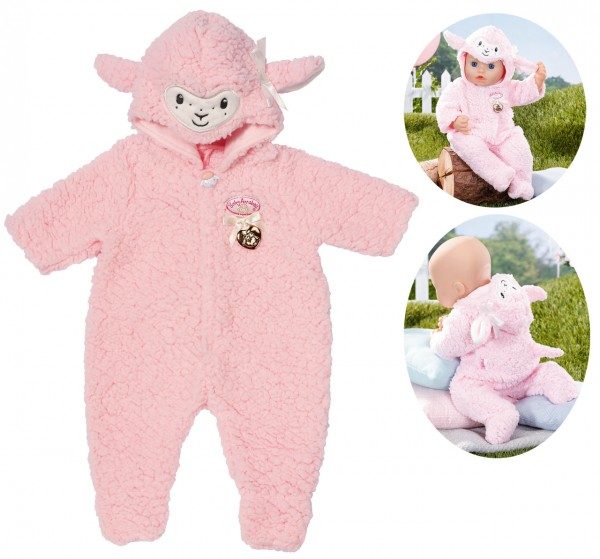 Baby Annabell Deluxe Schaf Overall 43 cm (Rosa)