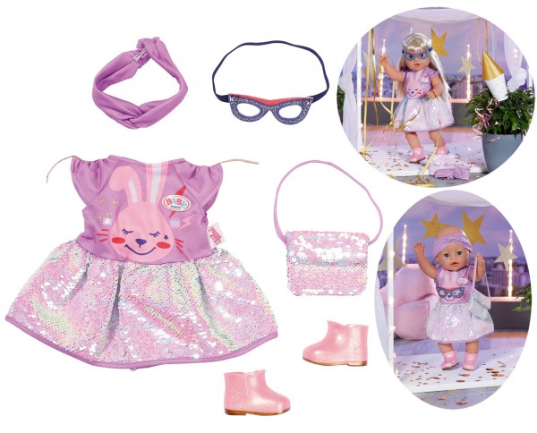 Baby Born Deluxe Happy Birthday Outfit 43 cm (Lila)