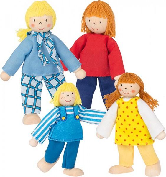 Puppenhaus-Puppen Junge Familie
