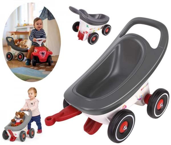 Buggy 3in1 Lauflernwagen, Buggy und Anhänger für Bobby Car (Grau)