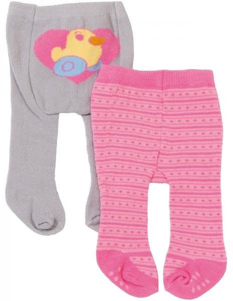 Baby Born Strumpfhosen-Set (Pink-Grau)