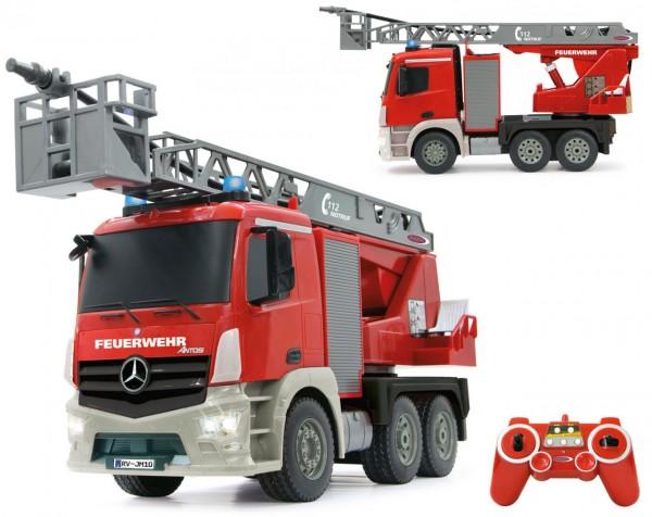 RC Feuerwehr Drehleiter Mercedes-Benz Antos 1:20 2,4 GHz (Rot)