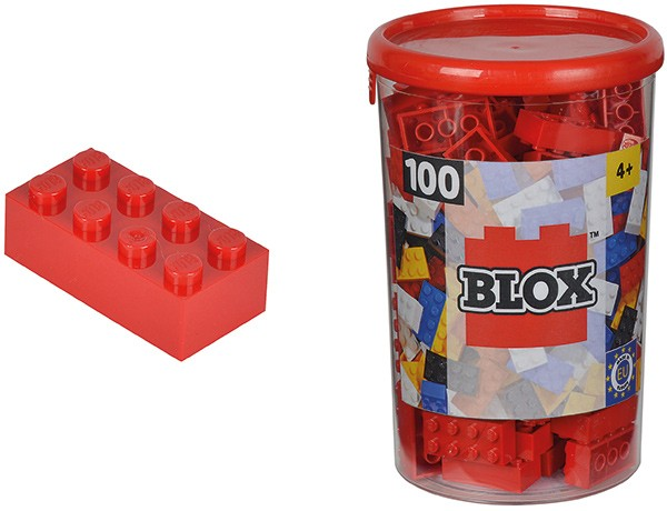 100 Blox Steine in Dose (Rot)