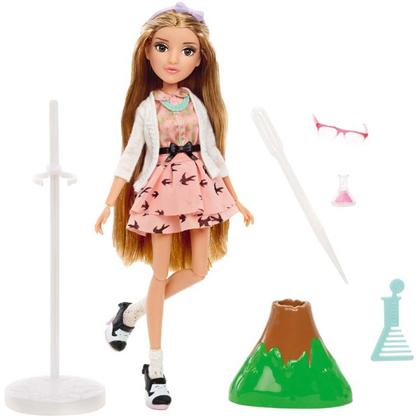 Project Mc² Puppe mit Experiment Adriennes Vulkan