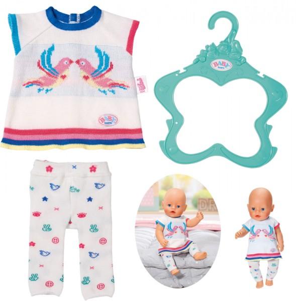 Baby Born Trend Strickkleidset 43 cm (Weiß)