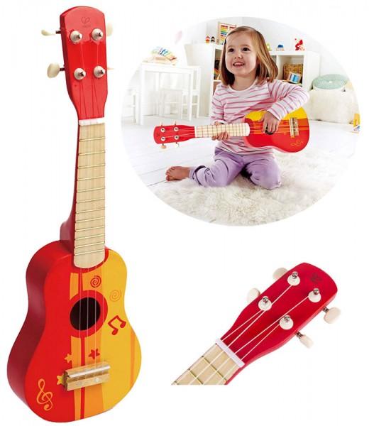 Kindergitarre Ukuele aus Holz (Rot)
