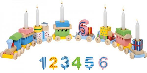 Geburtstagszug mit Zahlen