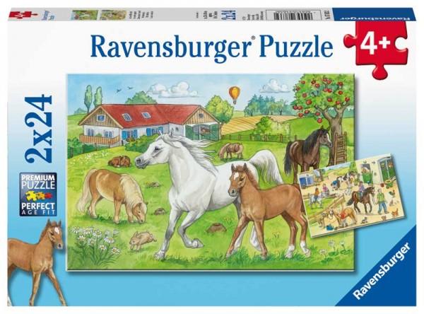 Kinderpuzzle Auf dem Pferdehof ab 4 Jahren