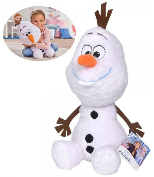 Disney Frozen 2 Plüschtier Friends Olaf 50 cm (Glitzer-Weiß)