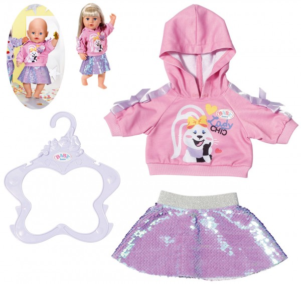 Baby Born Fashion Outfit 43 cm (Pink-Lila)