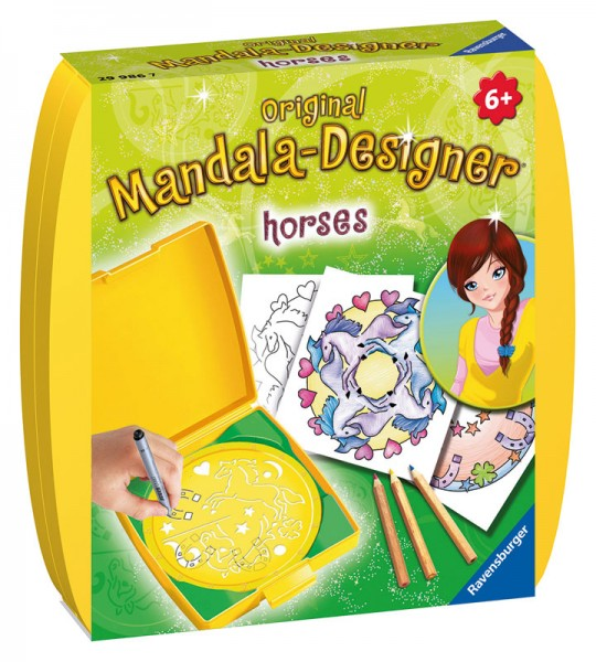Mini Mandala Designer Pferde