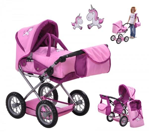 Puppenwagen Ruby Uma das Einhorn (Rosa)