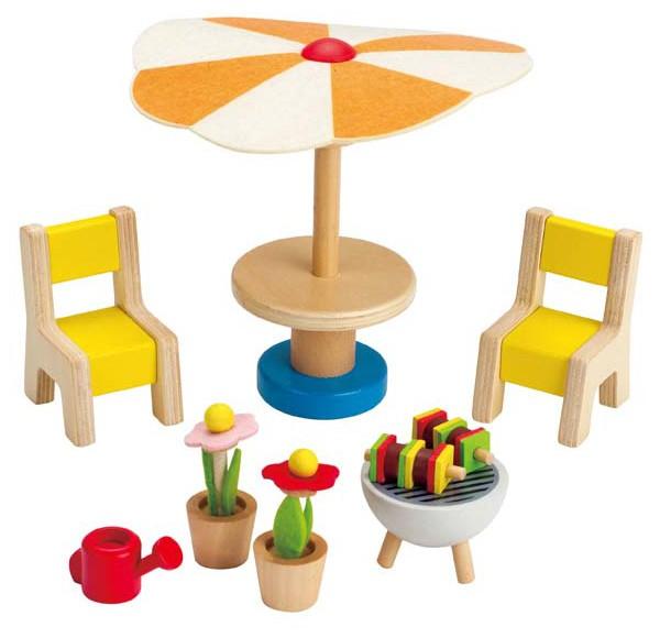 Puppenhaus Gartenmöbel mit Grill
