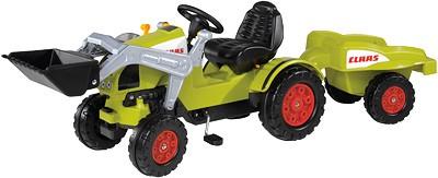Claas Celtis Traktor mit Schaufel und Anhänger