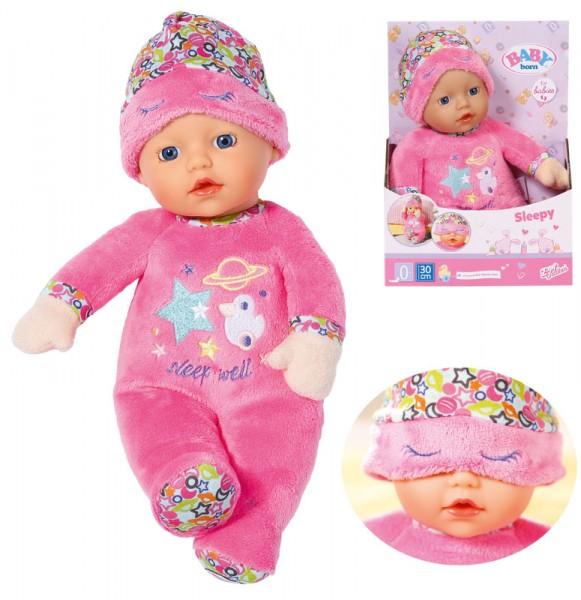 Baby Born Sleepy for Babies Puppe mit Schlafmütze 30 cm (Rosa)